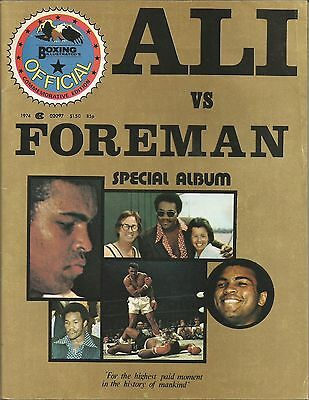 1974 MUHAMMAD ALI vs GEORGE FOREMAN BOXING ILLUSTRATED'S SPECIAL ALBUM