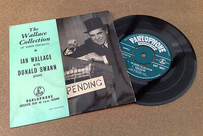 """ The Wallace Collection ""  Ian Wallace Donald Swann Superb Uk Orig Sample Ep"