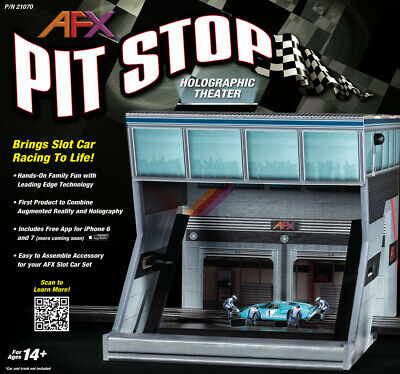 AFX Racing 21070 Pit Stop Holographic Theater Slot Car Set