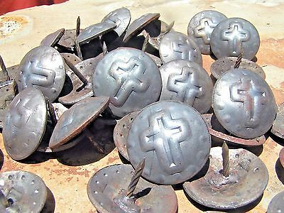 47 Steel Cross Clavos Decorative Nail Heads 1 1/2 inch