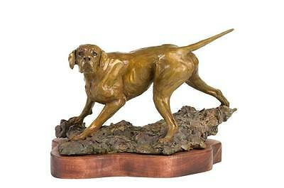 Limited Edition Pointer Bronze Figurine by Leslie Hutto