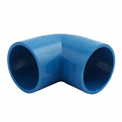 50mm Dia 90 Angle Degree Elbow PVC-U Water Pipe Fittings Adapter Connector Blue