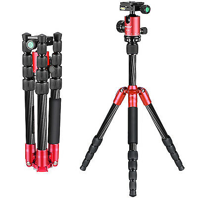 "Neewer Carbon Fiber 56"" Portable Mini Tripod with 360 Degree Ball Head"