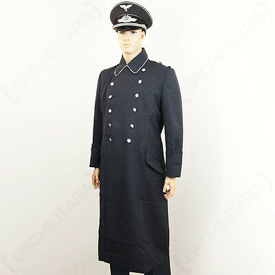 WW2 German Luftwaffe Officer Overcoat - Repro Airforce Pilot Great Coat Jacket