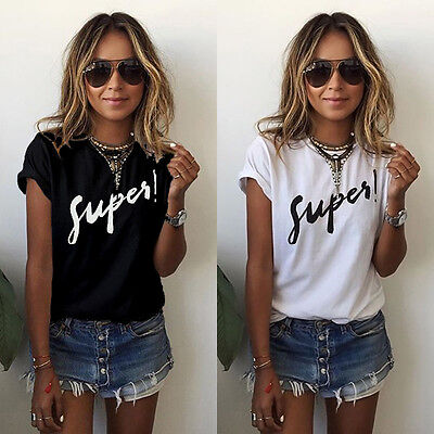 Women Loose Casual Tops Shorts Sleeve T Shirt Blouse Ladies Beach Tops Plus Size
