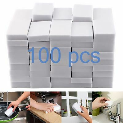 Magic Sponge Sponges 100 Pack Cleaning Melamine Foam Eraser Stain Dirt Remover