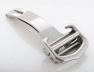 Genuine Cartier 18mm Brushed Stainless Steel Deployment Folding Clasp Buckle