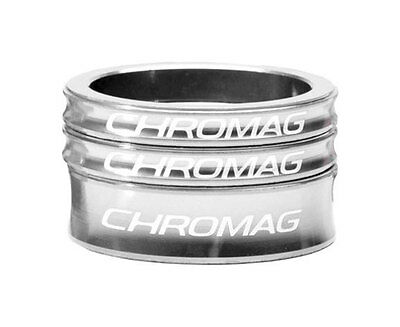 "Chromag Headset Spacer Kit - 1 1/8"" - Polished Silver"
