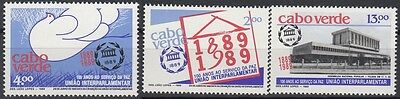 Cape Verde 1989 100 Years of the Interparliamentary Union. Set. MNH. VF.