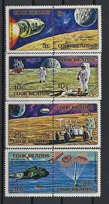 Cook Islands 1972 Exploration of the Moon. Set. MNH. VF.