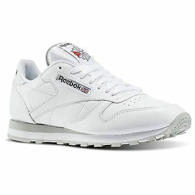 Reebok Classic 2214 Leather Shoes Back To School Sneakers Trainers British White