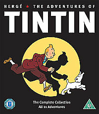 Herge - The Adventures Of Tintin 5 Disc Dvd Box Set (21 Episodes) New Sealed