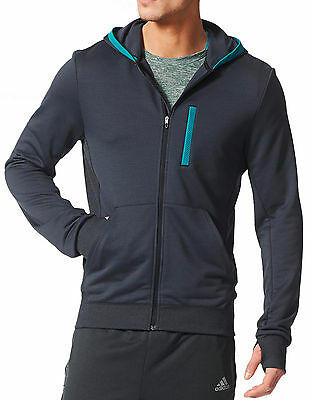 adidas Beyond the Run Mens Running Hoody - Black