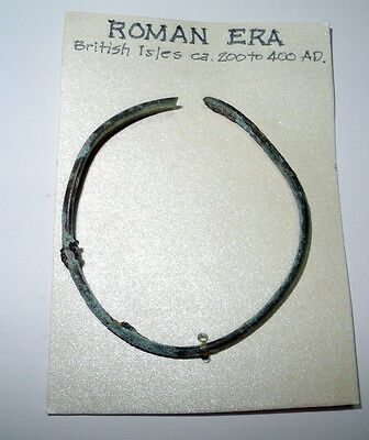 ROMAN era - BRONZE BRACELET, simple decoration - British Isles - circa 200 AD