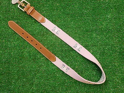 Peter Millar Lavender Leather Needlepoint Belt NGLA Golf Logo Size 34 New