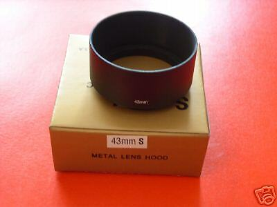 New! Metal 43mm Standard Screw-in Lens Hood for Nikon S