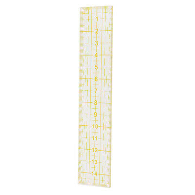Yellow Acrylic Quilting Templates Sewing Ruler Patchwork Tailor Tools 15cm
