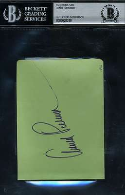 Arnold Palmer Signed Bas Beckett Authentic Album Page Autograph