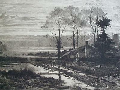ETCHING FEBRUARY FILL DYKE by B W LEADER ETCHED BY Th Chawrel