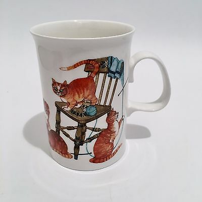 Alley Cats Dunoon Fine Bone China Cup Mug By Cherry Denman Cute Cat Lover Gift