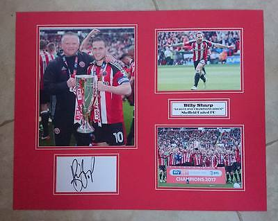 Billy Sharp - Sheffield United Fc -Champions 2016/17- Huge Signed Photo Montage