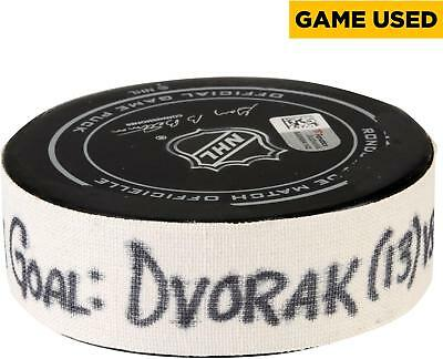 Game Used Christian Dvorak Coyotes Puck Fanatics Authentic COA Item#7135410