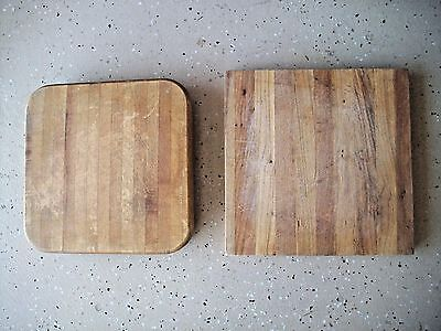 2 VINTAGE Cutting Boards, Chopping Blocks Wood Cut From Vintage Butcher Block