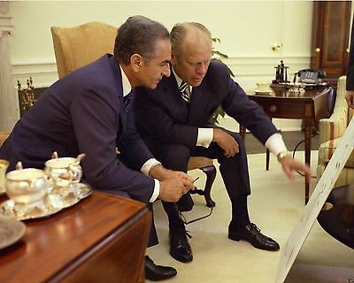 President Gerald Ford with Shah of Iran Mohammad Reza Pahlavi New 8x10 Photo