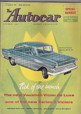 The Autocar British Motor Magazine March 13, 1959-Vauxhall Cover