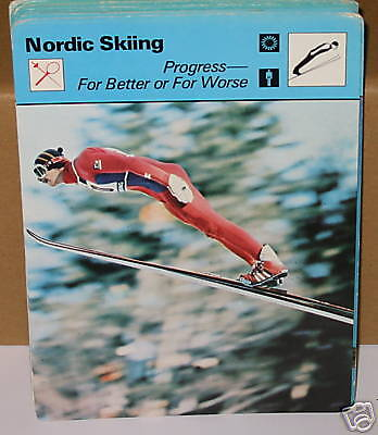 Progress - better or worse Nordic Skiing Collector card