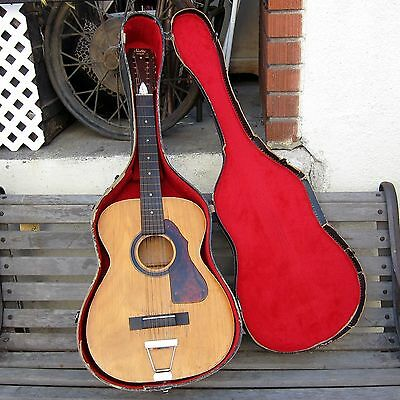 STELLA 12 STRING HARMONY Vintage Blues ACOUSTIC GUITAR w/ Case BAGGAGE BATTLES