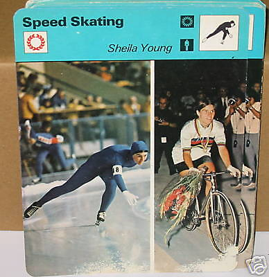 Speed Skating sheila young sports Collector card