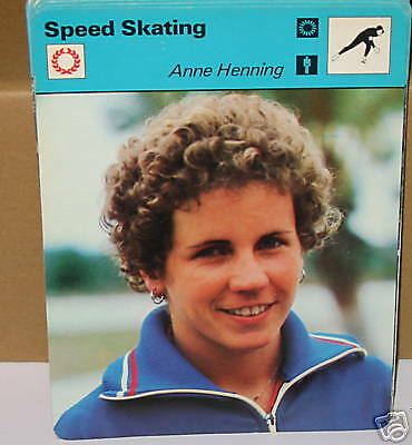 Speed skating Anne Henning winter sports Collector card