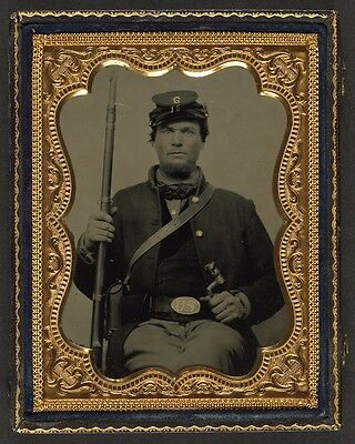 Photo Civil War Union Private Horace Smith 16th Wisconsin Infantry Regiment