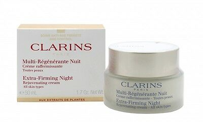 Clarins Extra Firming Night Rejuvenating Cream - Women's For Her. New