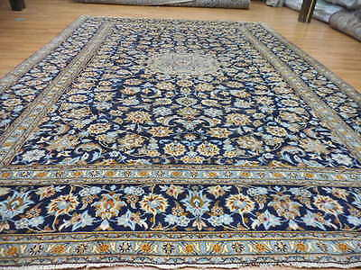 C1930s VGDY ANTIQUE PERSIAN ESFAHANIYAN SHADSAR KASHAN 9x12 ESTATE SALE RUG