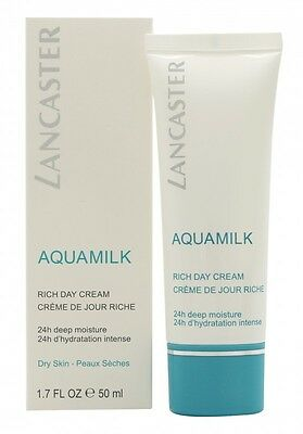 Lancaster Aquamilk Rich Day Cream. New. Free Shipping