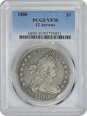 1800 Bust Dollar VF30 PCGS 12 Arrows Very Fine 30