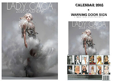 Lady Gaga Calendar 2018 + Lady Gaga Bewarn Door Sign