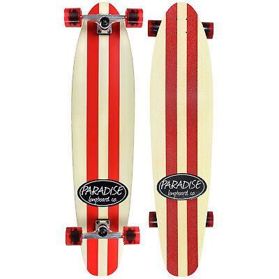 PARADISE MAPLE 44 Longboard Complete PINSTRIPE Kicktail RED