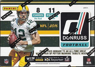 2016 Panini Donruss Football sealed unopened blaster box 11 packs of 8 NFL cards
