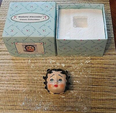 Madame Alexander Dolls Betty Boop Face Porcelain Hinged Box NEW IN BOX KING