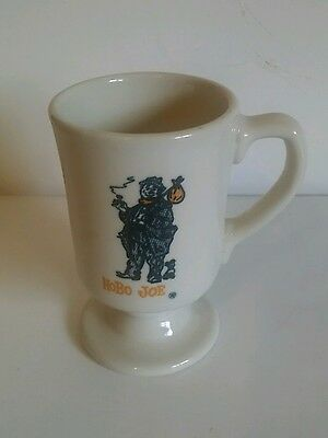 Hobo Joe Mug Vintage 60's Restaurant China Pedestal Coffee Cup Exc