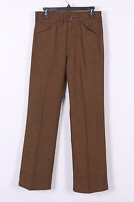 Vtg 70S Lee Riders Houndstooth Sta-Prest Bootcut Pants Usa Mens 30-32
