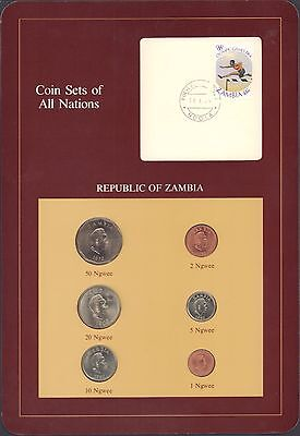 {BJSTAMPS} Coin Sets of All Nations Republic of Zambia BU 1968-1983