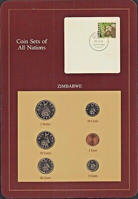 {BJSTAMPS} Coin Sets of All Nations Zimbabwe BU 1980-1983