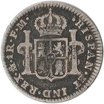 1799 Mexico (Spanish) 1 Real Silver Coin Charles IV KM#81