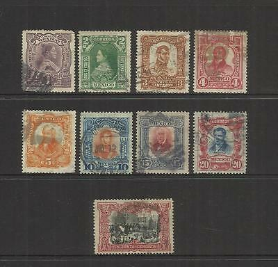 Mexico ~ 1910 Centenary First Independence Movement (Part Set) Used