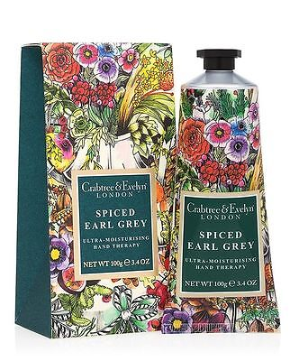 Crabtree & Evelyn - SPICED EARL GREY HAND THERAPY 100g Hand Cream NEW LAST STOCK