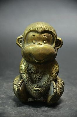 Lucky China Collect Pure Copper Brass Year Zodiac monkeys